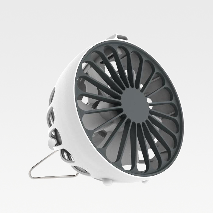 USB Anion Fan - Model F1 white